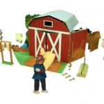เซ็ตตุ๊กตาคนเลี้ยงวัว ของเล่นเสริมสร้างจินตนาการ ของเล่นฝึกสมอง