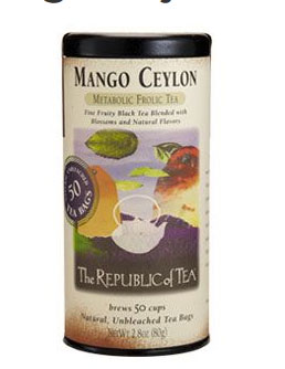 Republic of Tea - Mango Ceylon Black Tea (50 Tea Bags)