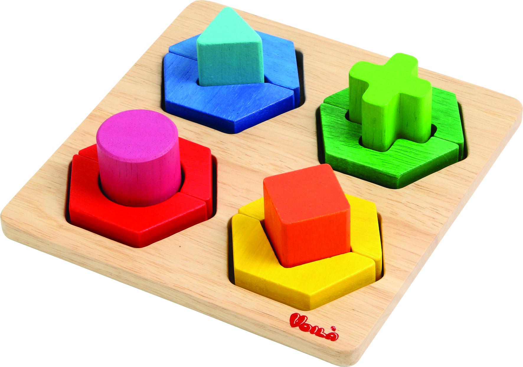 กระดานเรขาคณิตหลากสี ของเล่นเสริมสร้างสติปัญญา ของเล่นฝึกสมอง
