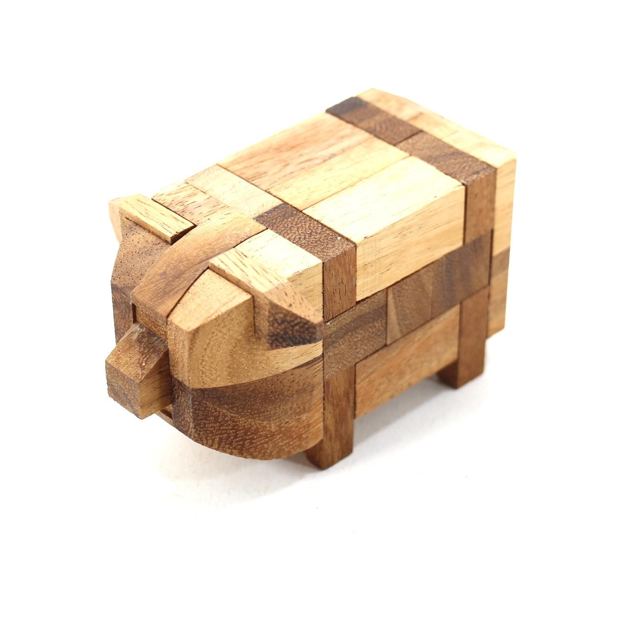 หมูน้อยอุ้ยอ้าย ของเล่นเสริมพัฒนาการ เกมส์ฝึกสมอง ของเล่นไม้