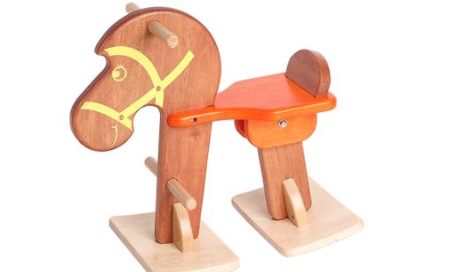 ม้าไม้โยกฝึกเดิน ของเล่นไม้ฝึกทักษะการคเลื่อนไหว ของเล่นฝึกการทรงตัว