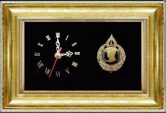 กรอบรูปนาฬิกา กรอบเหรียญ ร.9 ของฝากที่ระลึก เป็นศิริมงคลแก่ชีวิต