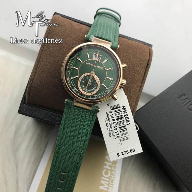 MICHAEL KORS Sawyer Ladies Green Watch MK2581