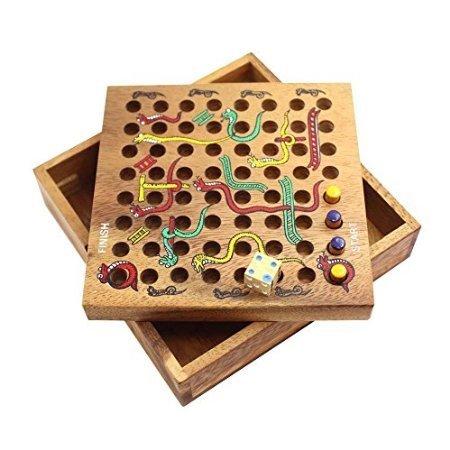 เกมส์เต๋าบันไดงู Snake and Ladder Game เกมส์ไม้ แข่งขันเพื่อความสนุก