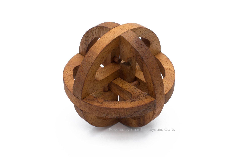 ลูกโลกพิศวง ของเล่นเสริมเชาว์ปัญญา ของเล่นไม้ฝึกสมอง เกมส์ไม้