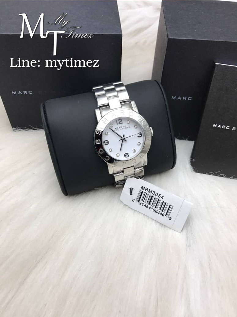 MARC BY MARC JACOBS Amy White Dial Stainless Steel Ladies Watch MBM3054
