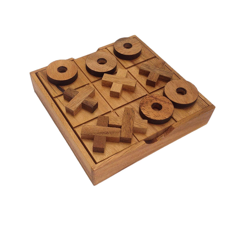 เกมส์ฝึกสมองTIC TAC TOE หรือ OX Wooden Game เกมส์พัฒนาทักษะการคิด