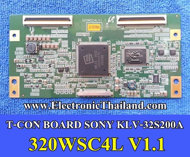 #T-CON BOARD SONY KLV-32S200A 320WSC4L V1.1