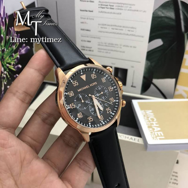 นาฬิกาข้อมือ MICHAEL KORS รุ่น Gage Chronograph Black Dial Men's Watch MK8535