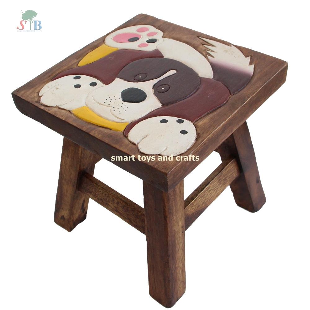 เก้าอี้สตูล เฟอร์นิเจอร์เด็ก รูปน้องหมา สำหรับตกแต่งห้องนั่งเล่น