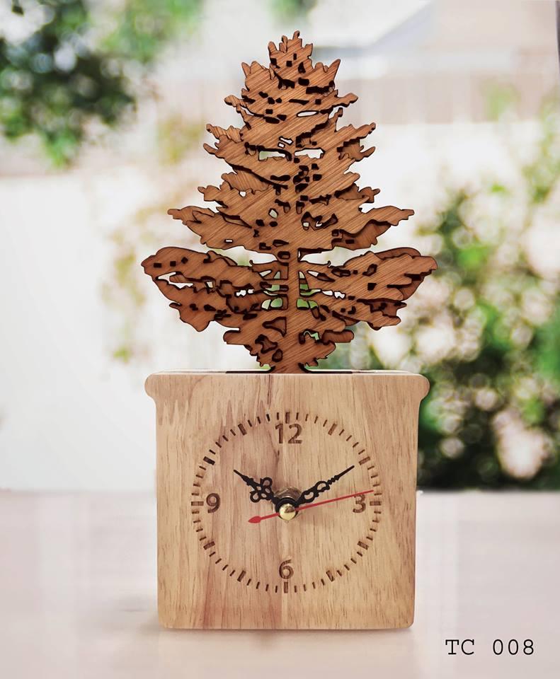 นาฬิกาตั้งโต๊ะ งานหัตถกรรม ประยุกต์สร้างสรรค์เพื่อเป็นของฝากที่ระลึก