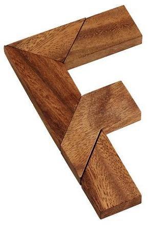 F Tangram หรือ แทนแกรมตัว F เกมส์พัฒนาสมอง ของเล่นไม้เสริมทักษะ