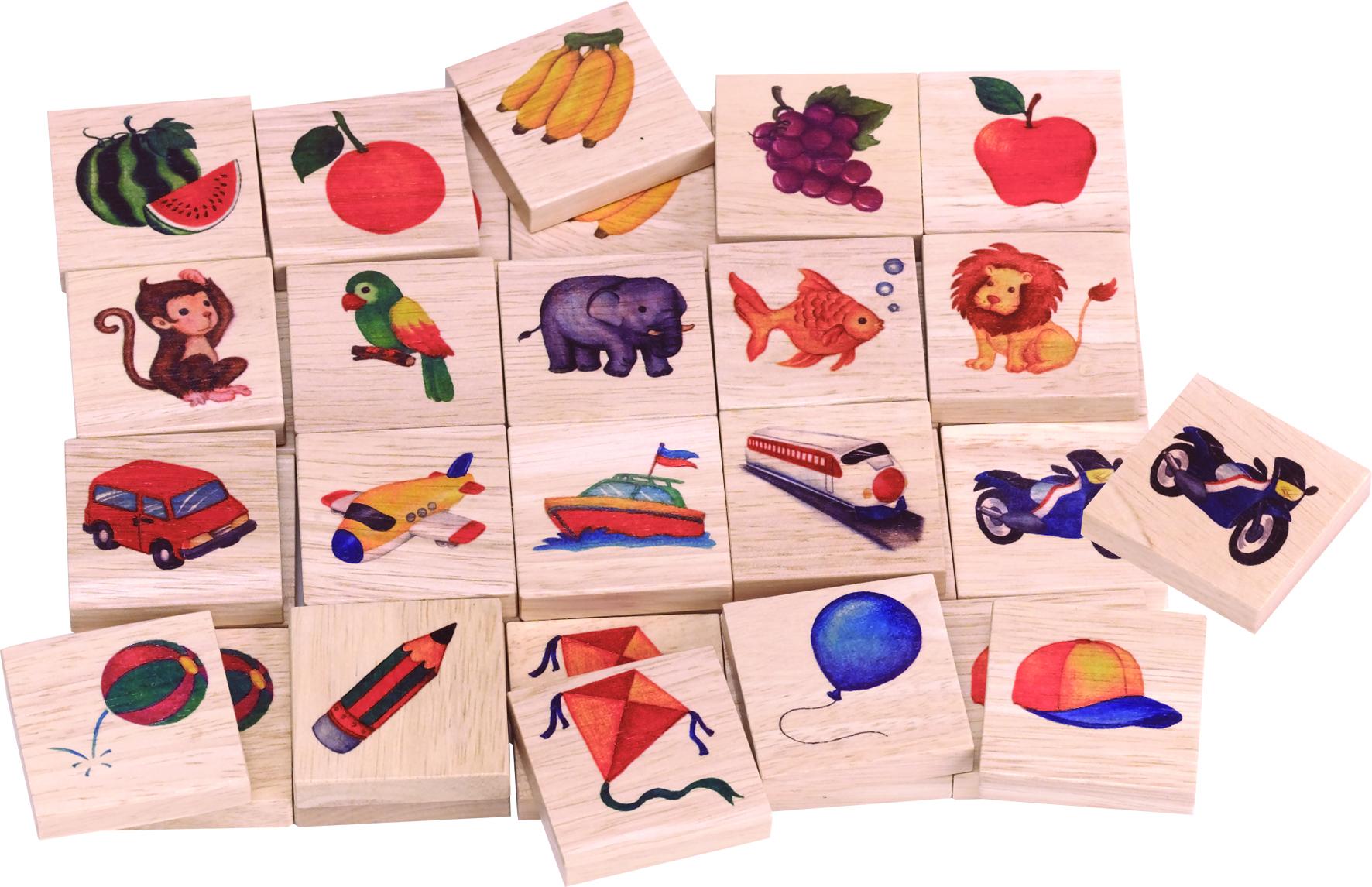 ของเล่นไม้ เกมส์ฝึกสมอง กับเกมส์จับคู่ภาพเหมือน ช่วยฝึกสมาธิ