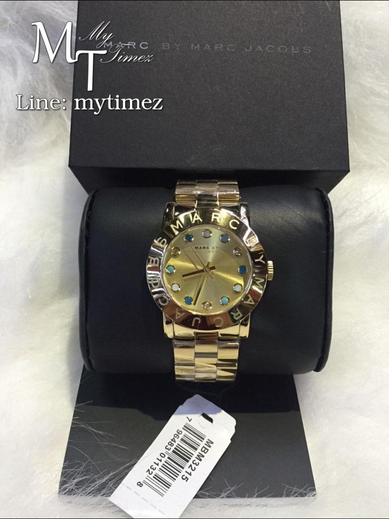 นาฬิกาข้อมือ MARC BY MARC JACOBS Amy Dexter Gold dial Gold-tone Ladies Watch MBM3215