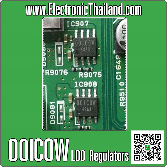 00ICOW IC.LDO Variable Regulators