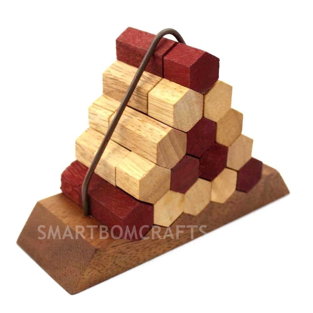 เกมส์ไม้ฝึกสมอง ปิรามิดรวงผึ้ง ของเล่นไม้ฝึกทักษะและการคิด