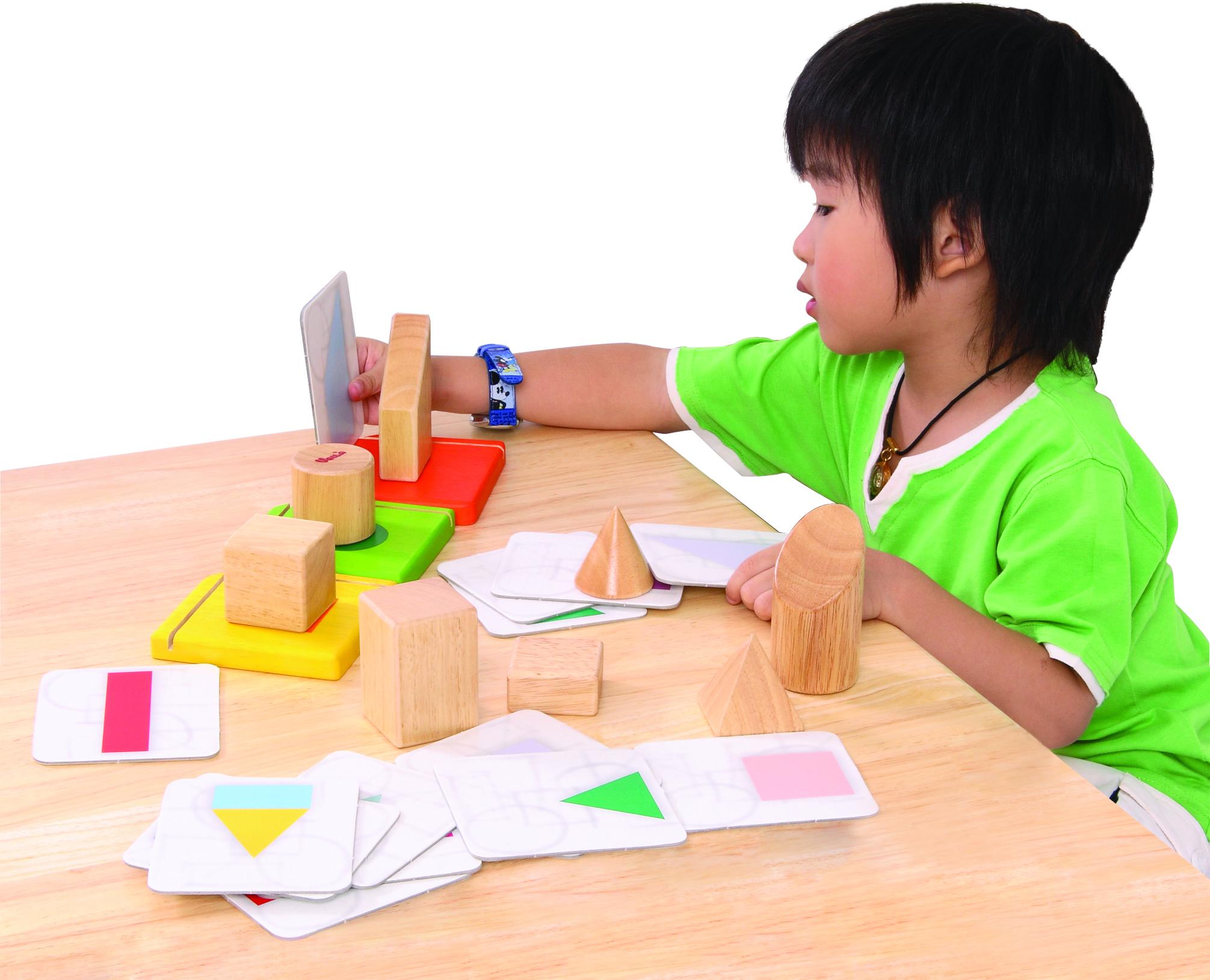 จับคู่เงาสามมิติ ของเล่นฝึกทักษะการคิด ของเล่นไม้ ของเล่นฝึกสมอง