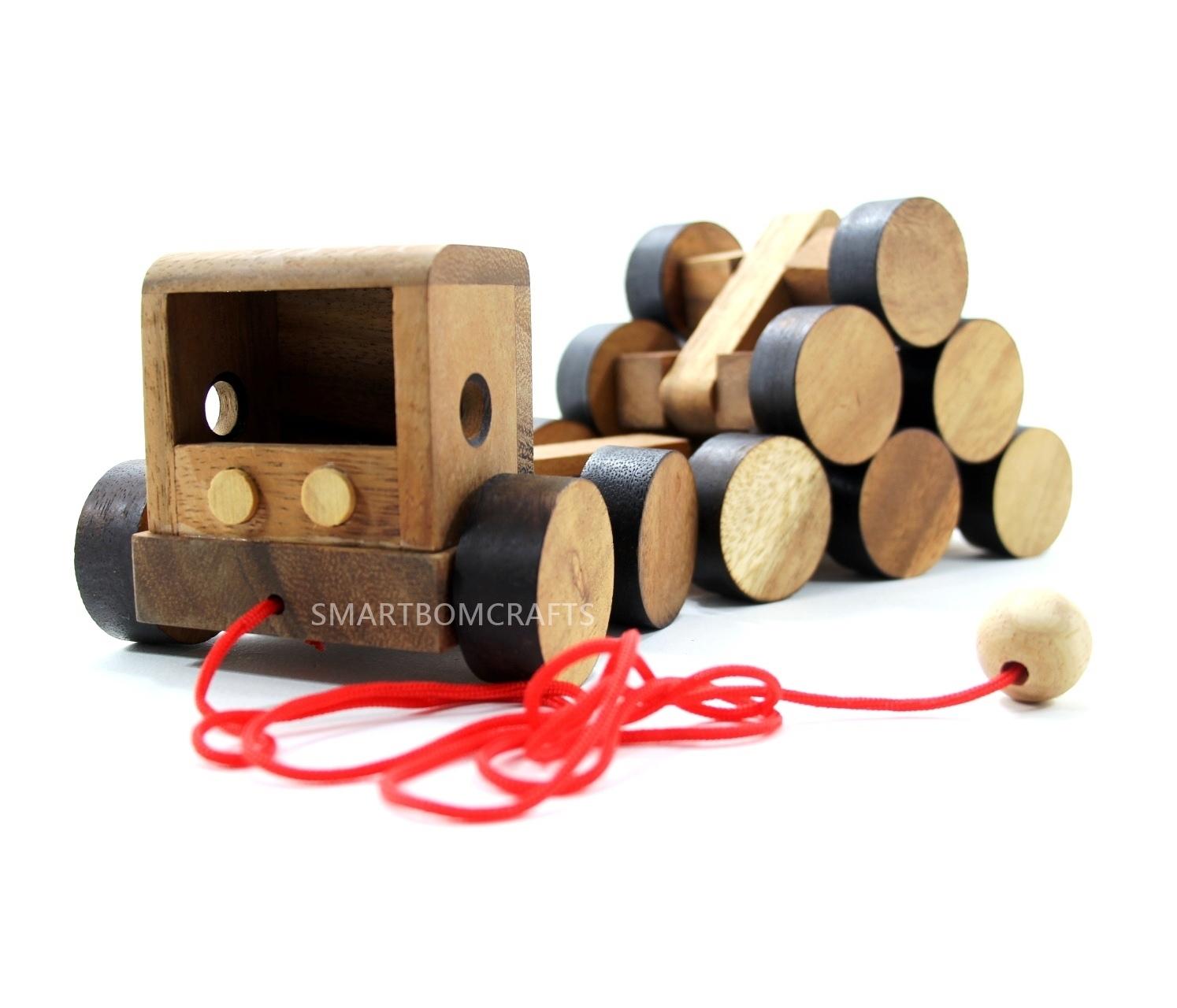 รถเทรลเลอร์สายหรรษา ของเล่นเด็ก ของเล่นไม้ ของเล่นเสริมสร้างสมาธิ