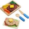 ของเล่นเสริมสร้างจิตนาการ ของเล่นเด็ก กับชุดอาหารจานหลัก แบบจำลอง