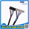 DF14 20 Pin single 1ch 8bit LVDS Cable for 15 inch LCD Sreen Monitor