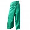 กางเกงเลสีเขียว กางเกงขากวยยาว สวมใส่สบายเป็นชุดกิจกรรม สันทนาการ