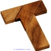 T Wooden Tangram หรือเกมส์แทนแกรมตัวที เกมส์ไม้ฝึกสมอง ของเล่นไม้