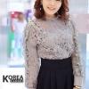 เสื้อแฟชั่น Elegance Lace Blouse by ChiCha's สีเทา