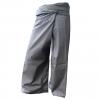 กางเกงเลสีเทา กางเกงขาก๊วย สวมใส่สบายในวันหยุด พร้อมไปทำบุญ