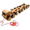รถเทรลเลอร์หรรษา ของเล่นเด็กเล็ก ของเล่นไม้ ของสะสม ของที่ระลึก