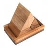 ปิรามิดสามชิ้นมีฐาน ของเล่นเด็ก ของเล่นไม้เสริมทักษะ จิ๊กซอว์ไม้