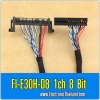 FI-E30H-D8 1ch 8 Bit LVDS CABLE For Samsung Screen