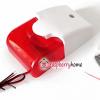 ไซเรนแบบมีไฟกระพริบ Mini Strobe Siren 220V Security Sound and Light Alarm Siren