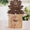 ของตกแต่งบ้าน กับแบบจำลองกระถางไม้ ต้นผักชี พร้อมนาฬิกาบอกเวลา