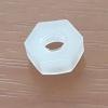 ไนลอนนัท หัวหกเหลี่ยม ขนาด M3 metric size insulation white PA66 nylon plastic hex / hexagon nut