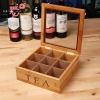 กล่องโชว์ชา 9 ช่อง - สีไม้ไผ่