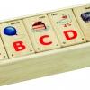 ของเล่นจิ๊กซอว์ไม้ เกมส์จับคู่คำศัพท์ ตัวอักษร A-Z ให้สัมพันธ์กัน