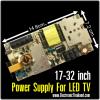 """Power Supply For LED TV 17-32"""" OUT-PUT 12V5A P2 68V"""