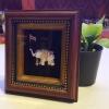 กรอบรูปเอกลักษณ์ไทย งานแฮนเมด รูปช้างทรงเครื่อง เป็นของฝากที่ระลึก