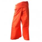 กางเกงเลสีส้ม หรือเรียกกางเกงขาก๊วย สวมใส่เป็นชุดนวดสปา นวดแผนไทย