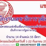 เปิดสอบ สำนักงานเลขาธิการวุฒิสภา จำนวน 55 อัตรา ตั้งแต่วันที่ 1 - 22 กันยายน 2560
