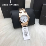 นาฬิกาข้อมือ MARC BY MARC JACOBS White Dial Rose Gold-Tone Ladies Watch MBM3077