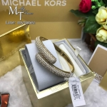 Michael Kors Gold Tone Pave Crystals Hinged Bangle MKJ3666710