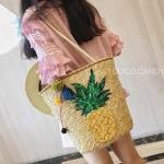 กระเป๋า Pineapple Sequin wt Pompom Torte