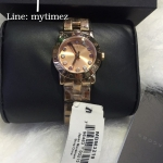 MARC BY MARC JACOBS Mini Amy Dexter Rose Gold Tone Crystal Womens Watch MBM3219