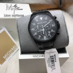 MICHAEL KORS Gage Black Ion-Plated Stainless Steel Chronograph Men's Watch MK8144