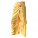 กางเกงขาก๊วยสีเหลือง กางเกงเลขายาว สวมใส่เป็นชุดสันทนาการ