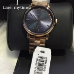 MARC BY MARC Baker Navy Dial Rose Gold-tone Steel Ladies Watch MBM3330
