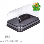 กล่องพลาสติกสำหรับใส่แยมโรล ขนมและเบเกอรี่ สีน้ำตาล E89 แพค 25 ใบ