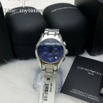 Emporio Armani Men's Classic Chronograph Blue Dial Stainless Steel AR1635