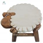 เก้าอี้ไม้ เก้าอี้สตูลเด็ก เฟอร์นิเจอร์รูปน้องแกะ น่ารักสวยงาม